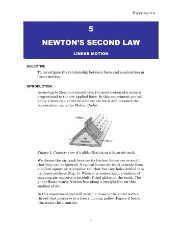 lab 5 newton s laws In this elementary physics investigation, students explore newton's 3rd law   they will place a 6th penny on the other end between the rulers & flick it at the 5  coins  resource type: activities:lab activity, classroom activity.