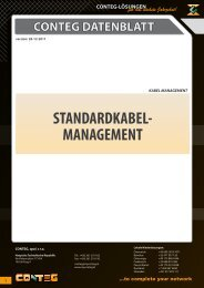 STANDARDKABEL- MANAGEMENT - Conteg
