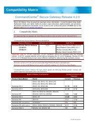 CommandCenter Secure Gateway - v4.2 - Compatibility ... - Raritan
