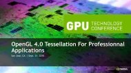 OpenGL 4.0 Tessellation For Professionnal Applications - Nvidia