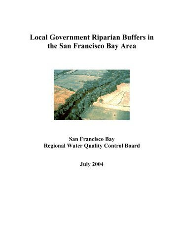 Local Government Riparian Buffers in the San Francisco Bay Area