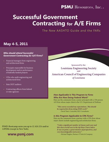 Successful Government Contracting for A/E Firms - American ...
