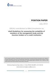 CECA - European Banking Authority