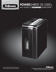 POWERSHRED® DS-1200Cs DS-1200Cs - Fellowes