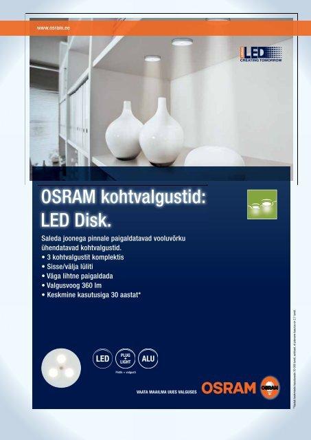 OSRAM kohtvalgustid: LED Disk.