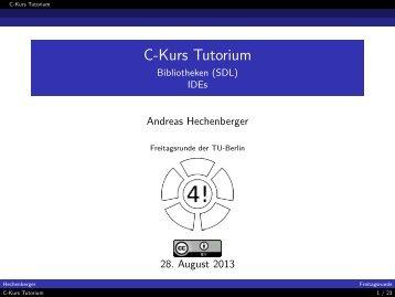 C-Kurs Tutorium - Bibliotheken (SDL) IDEs - Index of - Freitagsrunde