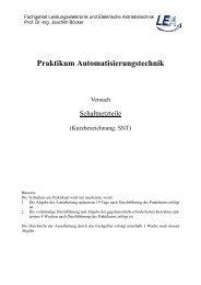 Praktikum Automatisierungstechnik - Fachgebiet Leistungselektronik ...