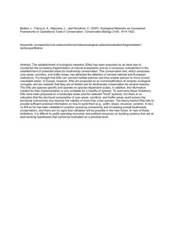 Ecological Networks as Conceptual Frameworks or ... - Kora