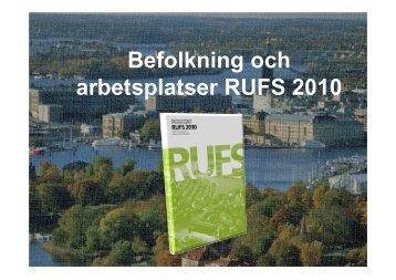 Markanvändning i RUFS 2010 - Trafikanalysforum.se