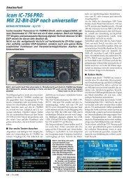 Icom IC-756 PRO: Mit 32-Bit-DSP noch universeller