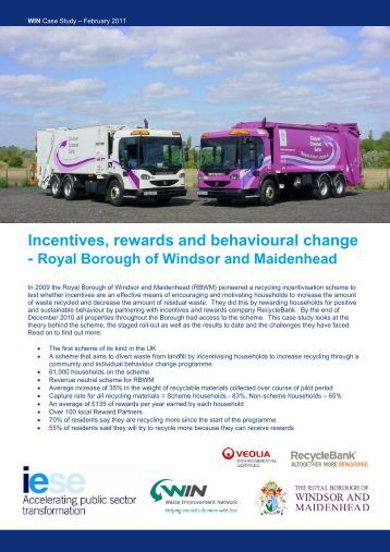 Incentives, rewards and behavioural change - East Midlands ...