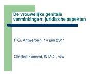 Vrouwelijke genitale verminking - juridische aspecten - Itg