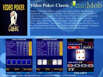 Video Poker Classic - RunMob