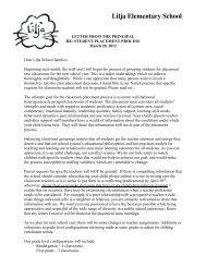 Placement Letter to Parents - Natick Public Schools