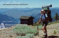 with pioneer thru-hiker Teddi Boston - Pacific Crest Trail Association