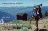 with pioneer thru-hiker Teddi Boston - Pacific Crest Trail Association