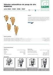 Válvulas automáticas de purga de aire ROBOCAL - Caleffi