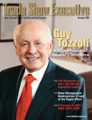 the November 2009 Issue in PDF Format - Trade Show Executive