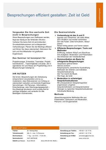 FLYER mit ANMELDUNG - Com on Business Coaching Center