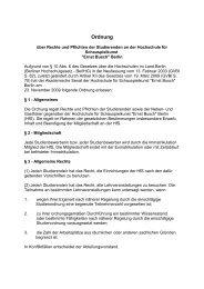 Ordnung - Hochschule für Schauspielkunst