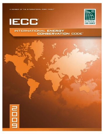 2009 International Energy Conservation Code - Ironwarrior.org