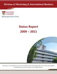 Status Report 2009 2011 - Nanyang Technological University