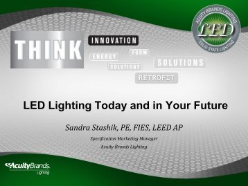 LED Lighting Today and in Your Future - EEB Hub