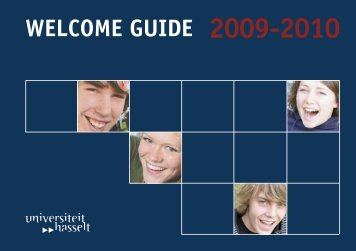 WELCOME GUIDE 2009-2010 - UHasselt