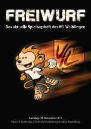 Freiwurf 23.11.2013 Frauen - VfL Waiblingen
