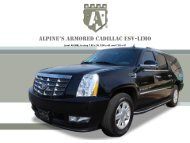 Alpine's ARMORED CADILLAC ESV-LIMO - Alpine Armoring Inc.