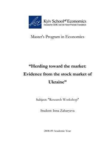 Herding toward the market: Evidence from the stock market of Ukraine