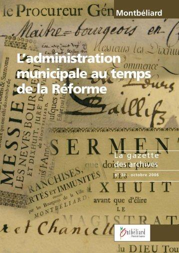 Gazette n°34 - Montbéliard