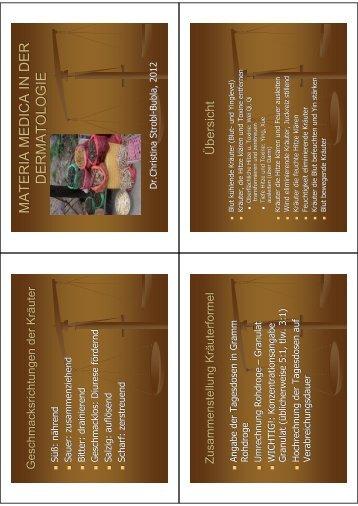dermatologievortrag materia medica-2012
