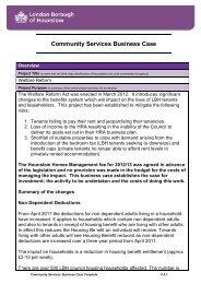 Welfare Reform Business Case - Hounslow Homes