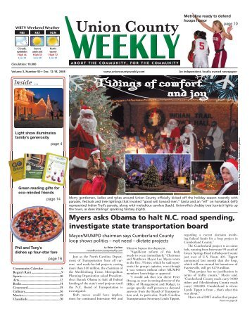 Tidings of comfort and joy - Carolina Weekly Newspapers