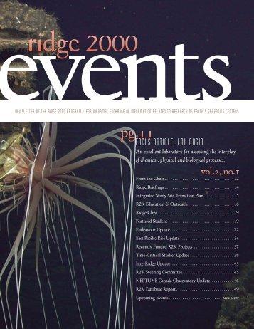 focus Article: Lau Basin - Ridge 2000 Program