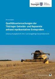Qualitätsuntersuchungen der Thüringer Getreide- und Rapsernte ...