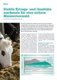 Stabile Ertrags- und Qualitäts- merkmale für eine sichere ... - DSV