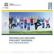 Dekade-Projekt werden: Ein Wegweiser - Bildung für nachhaltige ...