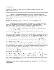 53 Normal Matrices - IMSA
