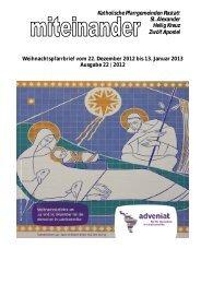 Pfarrbrief Nr. 2012-22 - Kath-Rastatt