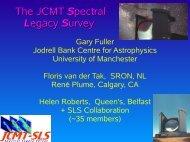 The JCMT Spectral Legacy Survey