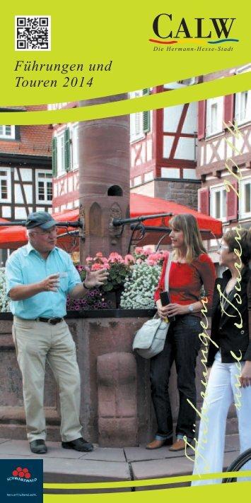Broschuere Stadtfuehrungen 2014 - Stadt Calw