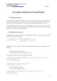 Les types structures et les pointeurs - Université Paris 8