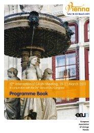 EAUN Programme Book - European Association of Urology