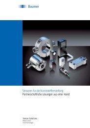 Sensoren für die Kunststoffherstellung Partnerschaftliche ... - Baumer