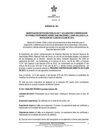 documento adicional - Sena