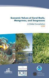 Economic Values of Coral Reefs, Mangroves, and Seagrasses A ...