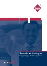 l Jetzt die theoretischen Hintergründe erfahren - Persolog GmbH