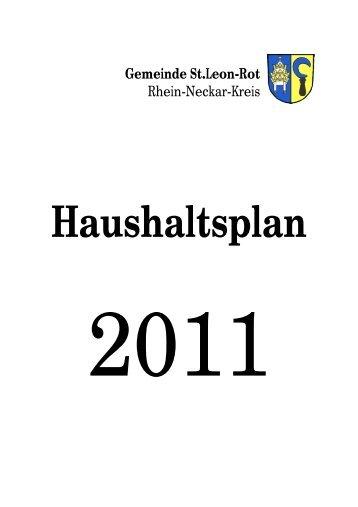 Haushaltsplan 2011 - St. Leon-Rot